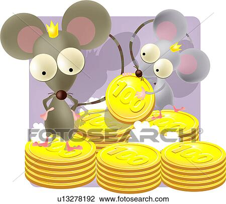 clip art krone jahreswechsel geld muenze ratte maus. Black Bedroom Furniture Sets. Home Design Ideas