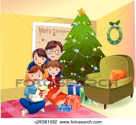 Stock Illustration of Christmas Corner At Home u18139646 - Search ...