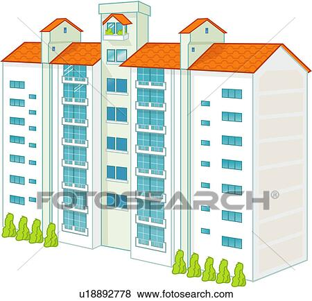 Stock Illustration Of Apartment Buildings Search Eps