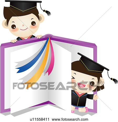 clipart of happiness graduation gown joy book diploma  clipart happiness graduation gown joy book diploma mortarboard fotosearch