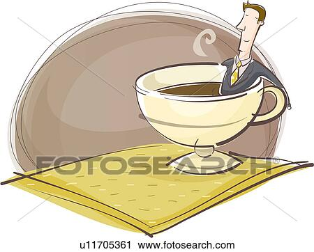 Clipart of coffee cup, businesssuit, tea time, coffee ...