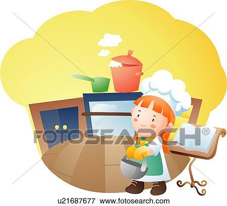 Banque d 39 illustrations livre enfant cuisine cuisinier for Recherche cuisinier