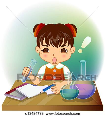 science drawing poster  Drawing - Science Class. Fotosearch