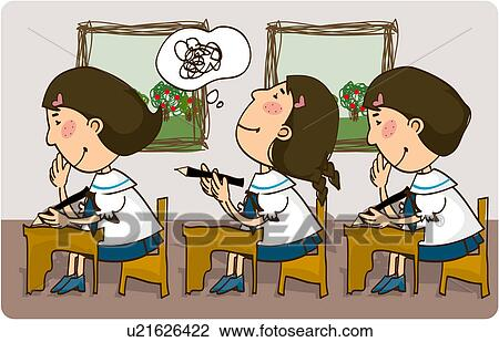 clip art of students working at desks u21626422 search Student Working at Desk Clip Art student working clip art black and white