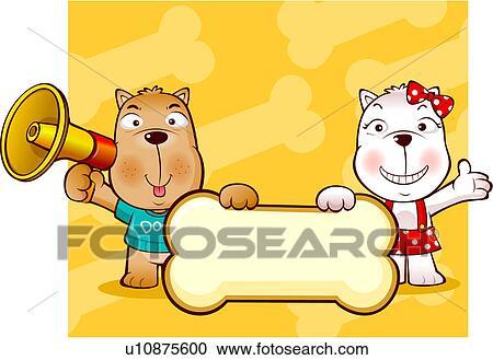 Galleria di illustrazioni cibo cane carattere cani - Animali in inverno clipart ...
