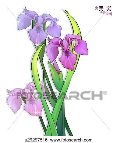 stock illustration blumen natur betriebe iris. Black Bedroom Furniture Sets. Home Design Ideas