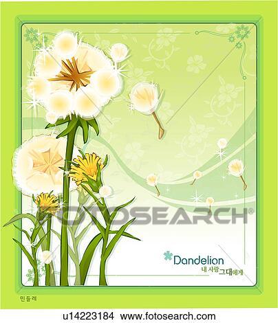 Dessins gabarit nature pissenlit templet plante - Dessin fleur pissenlit ...