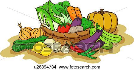 Σχέδιο - καλαθοσφαίριση, από, λαχανικά