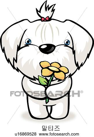 stock illustration of maltese dog characters anthropomorphic rh fotosearch com maltese clipart maltese clipart
