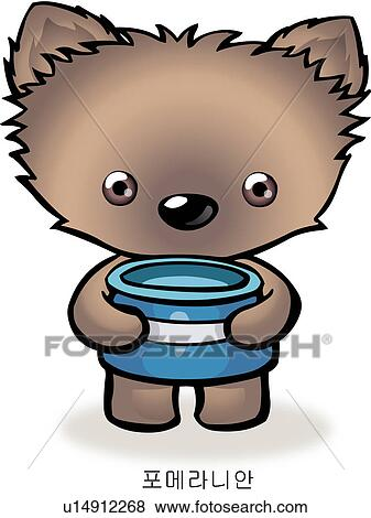 Stock Illustration of pomeranian, dog, characters, anthropomorphic ...