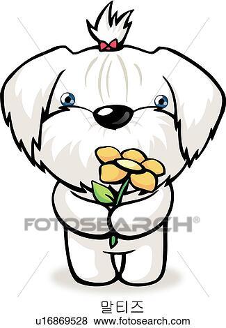 Stock Illustration of maltese, dog, characters, anthropomorphic ...
