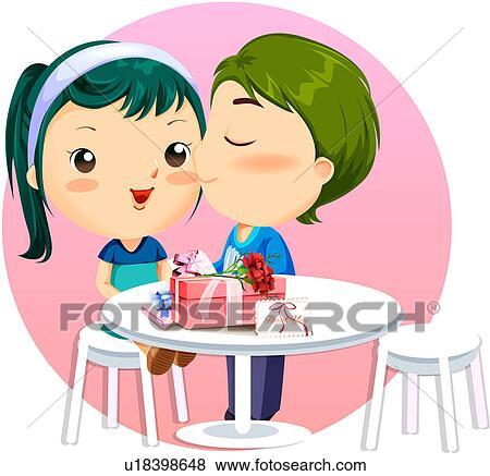 Stock illustration romantische geschenke u18398648 for Romantische geschenke