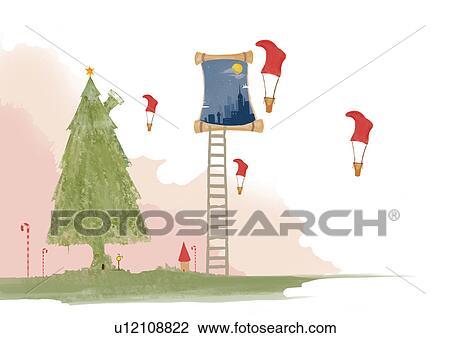 剪贴画 幻想, 树房屋