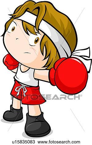 Dessin boxeur personne gens gar on gants boxe - Gant de boxe dessin ...