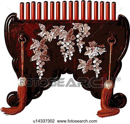 Clip Art of korean classical music, wind instrument, musical ...
