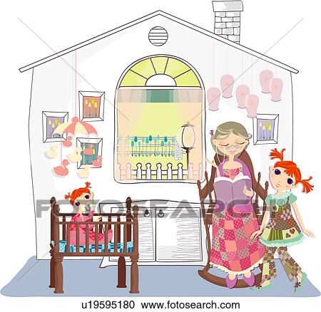 stock illustrationen kindern gl ck beweglich. Black Bedroom Furniture Sets. Home Design Ideas