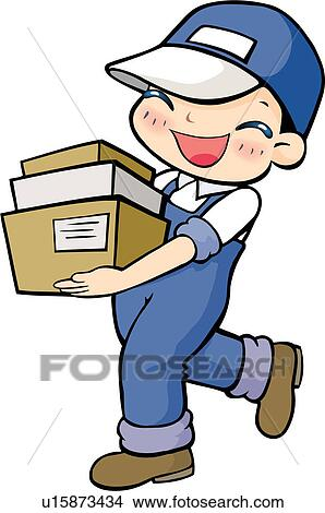 Drawings of delivering, carrying, package, case, delivery ... Package Delivery Clipart