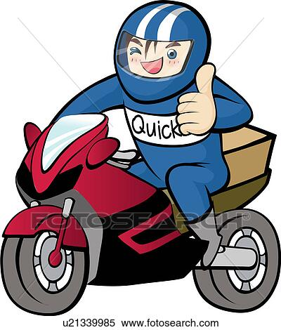 Stock Illustration of quick service, case, delivering ...
