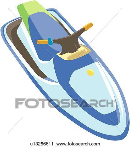 Clipart jet ski u13256611 recherchez des clip arts des illustrations des dessins et des - Jet ski dessin ...