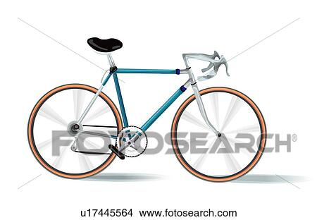 手绘图 - 自行车
