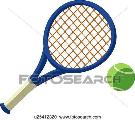 Banque d 39 illustrations raquette tennis et balle - Raquette dessin ...