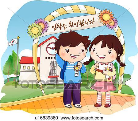 Galleria di illustrazioni scuola elementare schoolkid for Scuola clipart