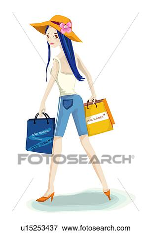 Casual clothing shopping bag lifestyle fashion fotosearch search