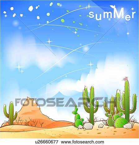 Stock illustraties steen zomer zand cactus woestijn hemel seizoen u26660677 zoek eps - Zomer keuken steen ...