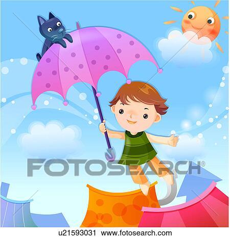 clipart enfants toit balloon ciel r ve u21593031 recherchez des clip arts des. Black Bedroom Furniture Sets. Home Design Ideas