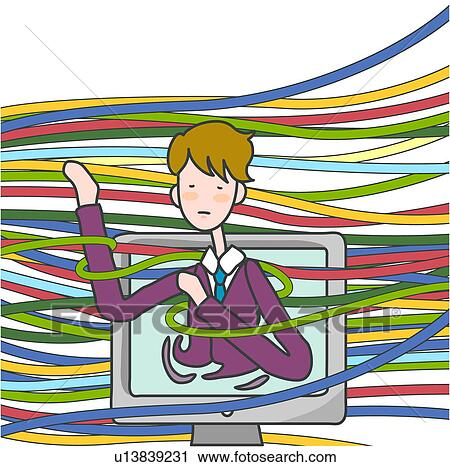 Clipart of cable, computer, technology, information, internet ...