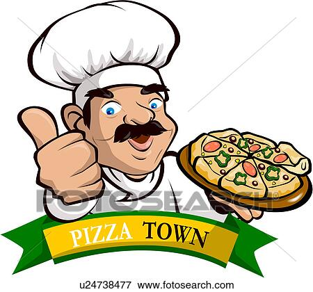 Pizza Chef Vector Pizza Chef Restaurant