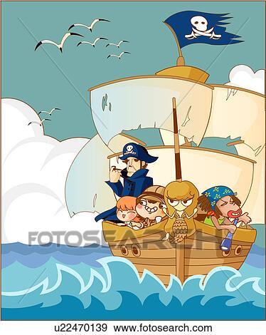 Tripulacion de un barco antiguo