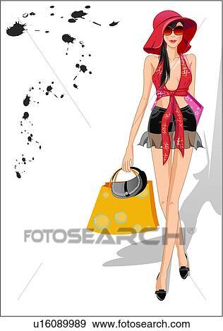 写真素材・動画素材・イラスト素材職業 ファッション 夏 若い女性 ライフスタイル モデル ストックフォトと画像素材