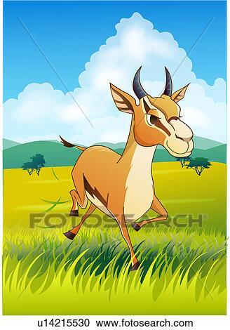 Stock illustrations of grassland thomson africa safari natural stock illustration grassland thomson africa safari natural world kenya voltagebd Choice Image