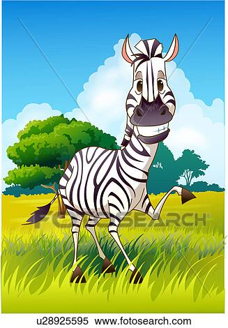 Stock illustration of zebra in grasslands u28925595 search stock illustration zebra in grasslands fotosearch search clipart drawings decorative prints voltagebd Choice Image