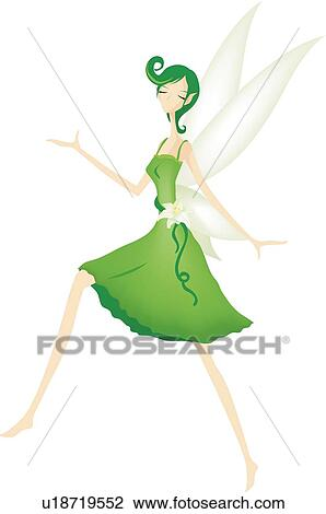 Clip Art of Woman, flower fairy, Lily fairy, lilies, lily, woman ...