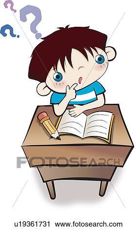 Unique Essays: Child doing homework clipart online paper ...