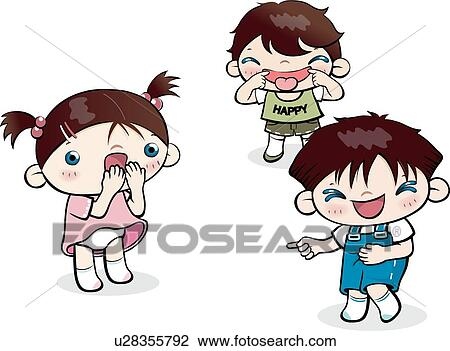 Clip Art of men, School life, women, woman, child, Bully ...