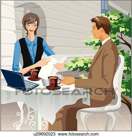 Dibujo al aire libre reuni n de la oficina u29692023 for Ver videos porno en la oficina