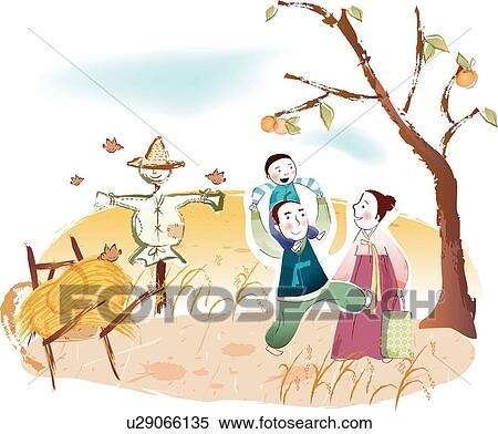 Banque d 39 illustrations riz plante persimmon arbres for Arbre factice
