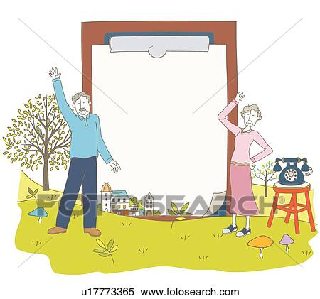 Stock Illustration Of Couple Elderly Retirement Life