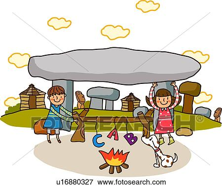 stock illustration zwei m dchen camping u16880327 suche clipart zeichnungen. Black Bedroom Furniture Sets. Home Design Ideas