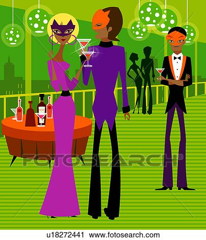 Club nocturno novia por correo besando