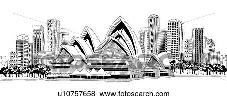 Sydney Opera House Clipart Black And White