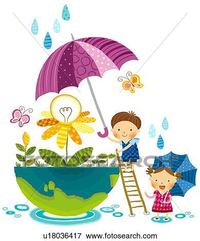 Stock Illustration Of Save The Electricity U18036417