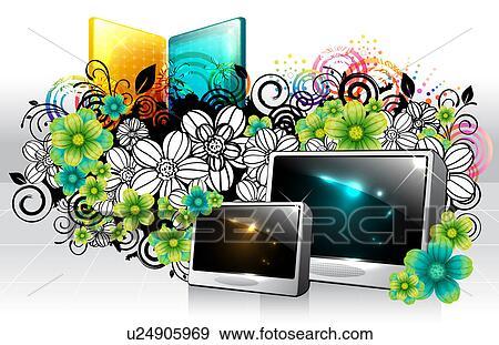 banque d 39 illustrations num rique cadre flore conception u24905969 recherche de. Black Bedroom Furniture Sets. Home Design Ideas