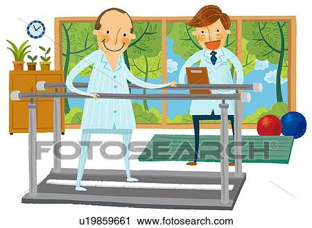 Clip Art Physical Therapy Clip Art clipart of male physical therapist with patient u19859661 search fotosearch clip art illustration murals