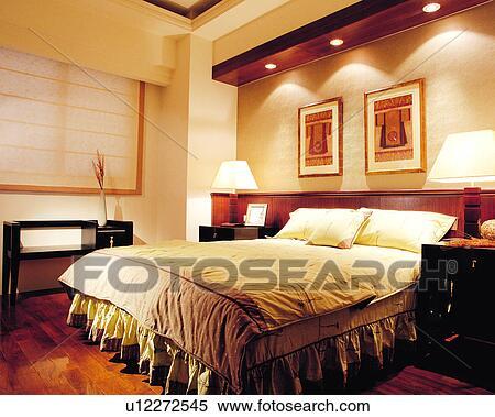 Banque d 39 image chambre coucher d coration int rieure for Decoration interieur de chambre a coucher