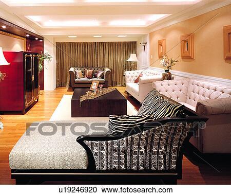 Banques de photographies l gant d coration style de - Style de decoration interieure ...