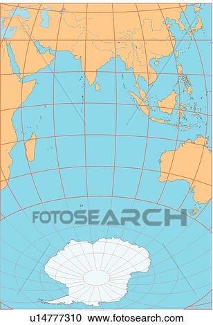 Stock illustrations of illustration world map equatorial line map illustration world map equatorial line map sea world countries gumiabroncs Images